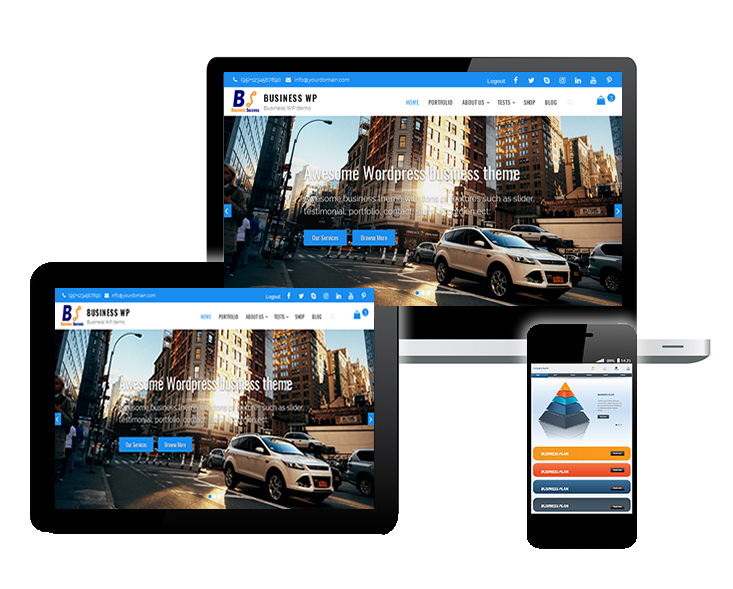 mobile responsive wp business theme